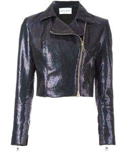 Daizy Shely   Cropped Biker Jacket 42 Cotton/Polyester/Other Fibers