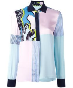 Versace | Jagged Baroque Patchwork Shirt 44 Acetate/Viscose