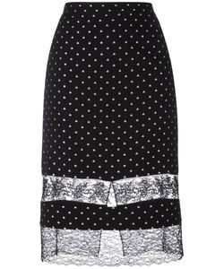 Givenchy | Star Embroidered Lace Panel Skirt 36 Silk/Polyamide/Acetate