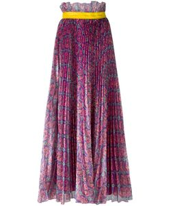 Daizy Shely   Print Pleated Skirt 44 Polyester