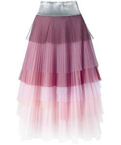 Daizy Shely   Layered Pleated Skirt 42 Polyamide