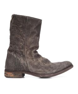 A DICIANNOVEVENTITRE | Peaked Derby Vamp Boots 42 Leather