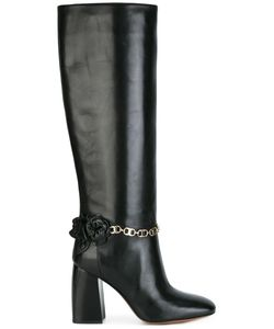 Tory Burch | Chain Detailing Boots 7.5 Leather/Calf Leather