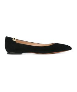 Tory Burch | Pointed Toe Ballerinas 6.5 Suede/Leather