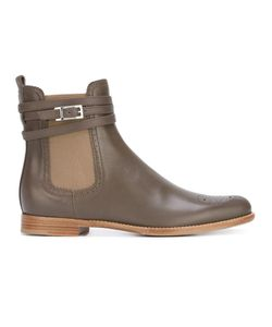 Unützer | Buckled Detailing Chelsea Boot 36.5 Calf Leather/Leather/Rubber