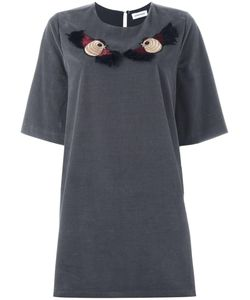 Au Jour Le Jour | Embroidered Bird T-Shirt Dress 40