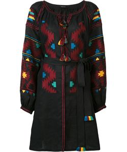 Vita Kin | Eagles Embroidered Midi Dress Small Linen/Flax