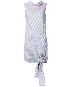 Monse | Knotted Hem Striped Dress 4 Viscose