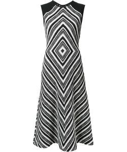 Martin Grant | Geometric Pattern Flared Dress 40 Cotton/Polyamide/Polyester/Spandex/Elastane
