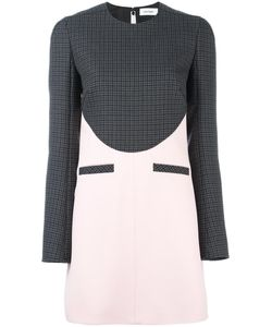 Courreges | Courrèges Houndstooth Panel Dress 36 Wool/Acetate/Viscose/Polyester