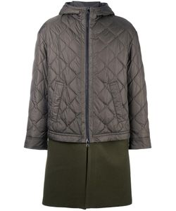 Neil Barrett | Padded Contrast Military Coat 48 Nylon/Wool/Polyamide/Polyester