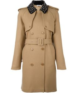 J.W. Anderson | J.W.Anderson Studded Collar Trenchcoat 6 Viscose/Wool/Polyamide/Leather