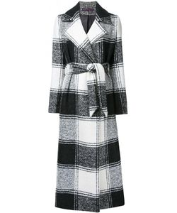 Martin Grant | Checked Belted Coat 40 Mohair/Alpaca/Virgin Wool/Polyamide