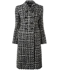 Dolce & Gabbana | Tweed Midi Coat 40 Silk/Cotton/Acrylic/Wool