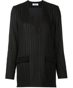 Marios | Pinstripe Jacket Dress Top Medium Polyester/Cashmere/Wool