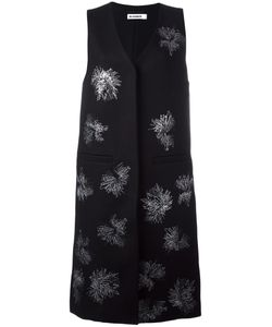 Jil Sander | Sleeveless Embroidered Coat 36 Virgin Wool/Polyamide/Polyester