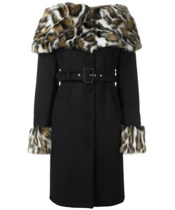 Moschino | Faux Fur Collar Coat 46 Virgin Wool/Polyamide/Cashmere/Rayon