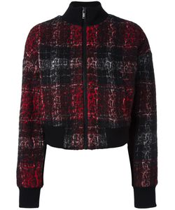 DKNY | Plaid Bomber Jacket Small Acrylic/Polyester/Wool