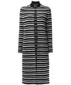 Martin Grant | Striped Cardi-Coat 40 Cotton/Polyamide/Polyester/Spandex/Elastane