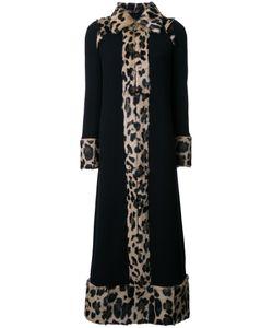 Sonia Rykiel | Leopard Coat 36 Polyamide/Spandex/Elastane/Wool