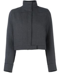Courreges | Courrèges Houndstooth Cropped Jacket 40 Wool/Polyester/Polyurethane/Cupro