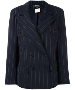 Chanel Vintage | Pinstripe Double-Breasted Blazer 40