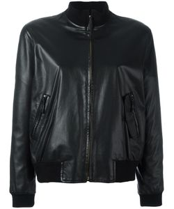 Hermès Vintage | Leather Bomber Jacket 44