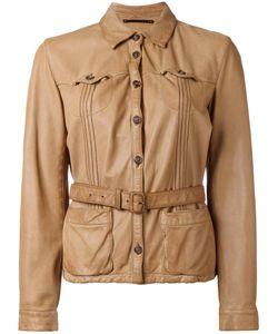 Prada | Belted Leather Jacket Large