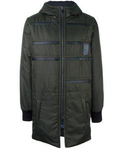 LETASCA | Zip Detail Hooded Coat Medium Polyester