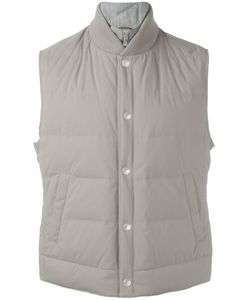 Brunello Cucinelli | Buttoned Padded Gilet Xl Nylon/Cotton/Wool/Feather Down