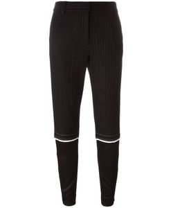 DKNY | Tapered Pinstripe Trousers 4 Wool/Polyester/Viscose