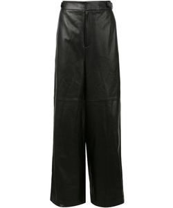 JUUN.J | Wide Leg Leather Trousers 48 Lamb Skin