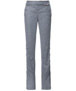 Monse | Buttoned Side Straight Trousers 6 Spandex/Elastane/Viscose/Wool/Virgin Wool