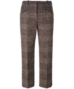 Sonia Rykiel | Plaid Cropped Trousers 40 Viscose/Virgin Wool/Alpaca