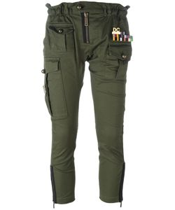 Dsquared2 | Arrow Cropped Military Trousers 36 Cotton/Spandex/Elastane/Polyester