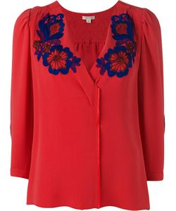 Marc Jacobs | Embroide Flower Blouse 10 Silk/Cotton
