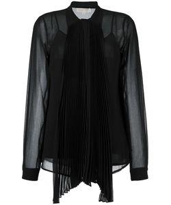 Michael Michael Kors | Semi Sheer Bow Neck Shirt Xl
