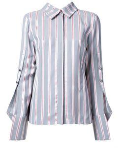 Monse   Buttoned Sleeve Striped Shirt 2 Silk