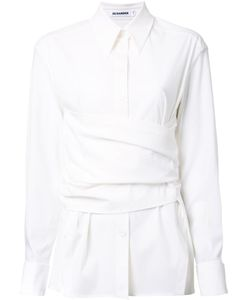 Jil Sander | Draped Layered Shirt 36 Polyamide/Spandex/Elastane/Wool
