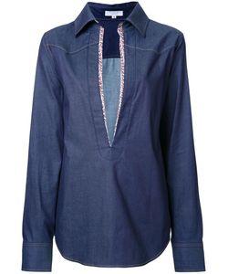 Katharine E Hamnett | Katharine Hamnett Trim Detail Denim Shirt 38 Cotton/Polyurethane