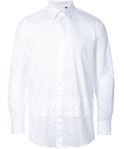 MATTHEW MILLER | New Man Layered Shirt Small Cotton/Spandex/Elastane