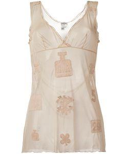 Chanel Vintage | Embroidered Logo Vest 38