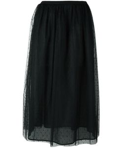 Red Valentino | Sheer Layer A-Line Skirt 48 Polyamide/Cotton