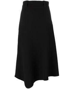 Lucio Vanotti | Asymmetric Midi Skirt 1 Wool/Cotton/Spandex/Elastane