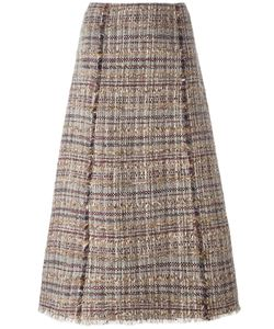 Diane Von Furstenberg | Tweed A-Line Skirt 8 Cotton/Linen/Flax/Acrylic/Spandex/Elastane