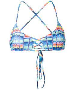 Mara Hoffman | Basket Weave Print Bikini Top Small