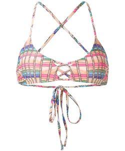 Mara Hoffman | Basket Weave Print Bikini Top Small Nylon/Spandex/Elastane/Polycarbonite