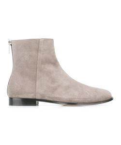 Jimmy Choo | Duke Ankle Boots 39.5 Goat Suede/Leather/Rubber