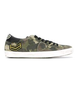 Philippe Model | Camouflage Print Sneakers 40 Suede/Leather/Rubber