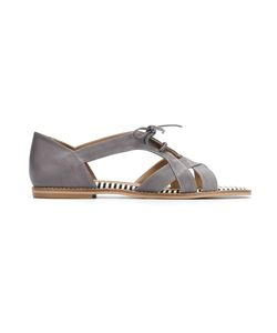 Manolita | Leather Flat Sandals 39 Leather